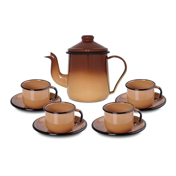 Conjunto de café Ewel Marrom
