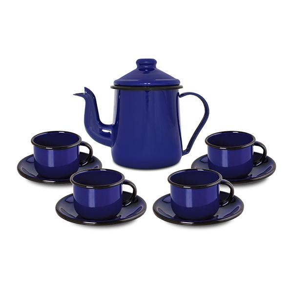 Conjunto de café Ewel Azul