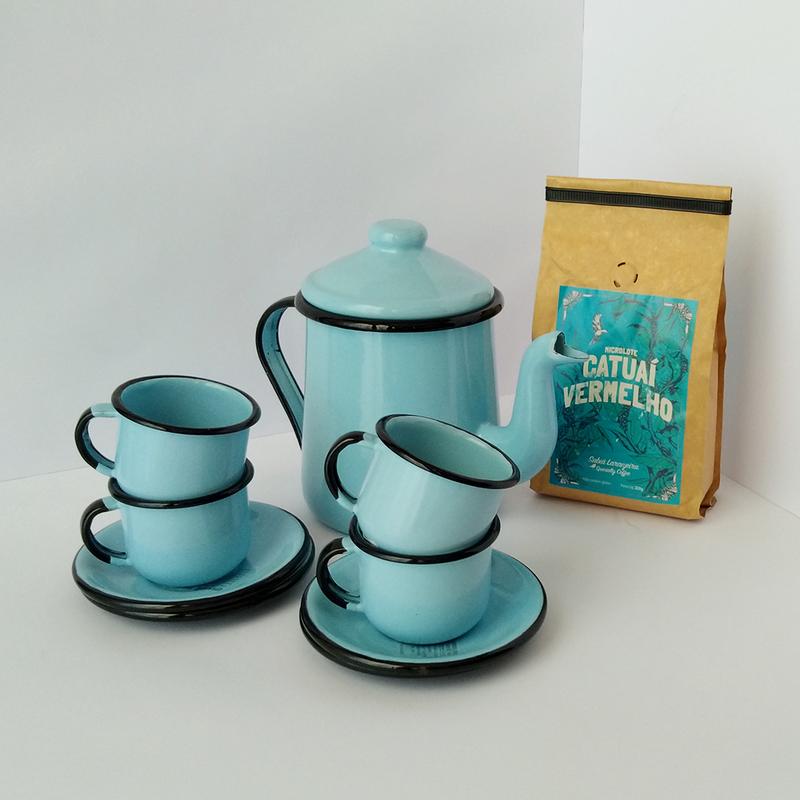 Kit Conjunto Esmaltado + Café Catuaí Vermelho