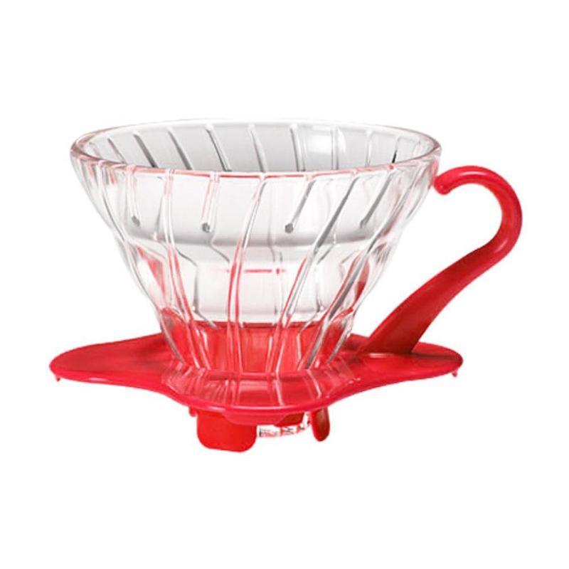 Suporte para filtro de café V60-01 Hario-  VIDRO VERMELHO